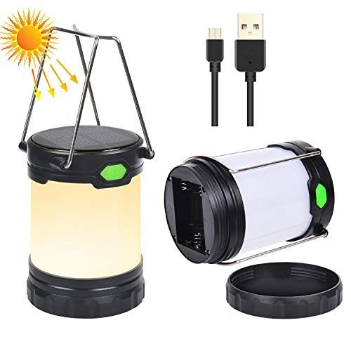 Usb Rechargeable Solar Lantern Battery Operated Lamp Waterwroof And Portable Led Camping Lamp Great Solar Powered La Camping Lamp Led Camping Lantern Solar Usb