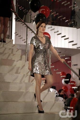 Silver dress - Leighton Meester - Gossip Girl