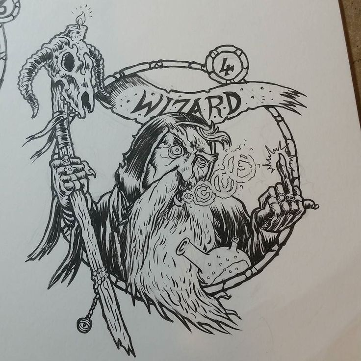 On instagram by artofnerdgore #heroquest #microhobbit (o) http://ift.tt/2oIWFt7: Wizard  Permanently walking around amongst a cloud of magic herb smoke this doddery old codger is not to be underestimated. Sure he smells like his own piss but when he conjours a trio of carniverous rat badgers inside your lower intestine you'll wish you had respected him after all.  #wizard #number4 #zeroquest  #staff #beard #oldschoolroleplaying #oldhammer #brush #ink #illustration #fantasy #fuckinsmoke…