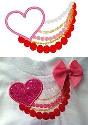 Cute Heart Necklace Applique - 3 Sizes!   Featured Products   Machine Embroidery Designs   SWAKembroidery.com