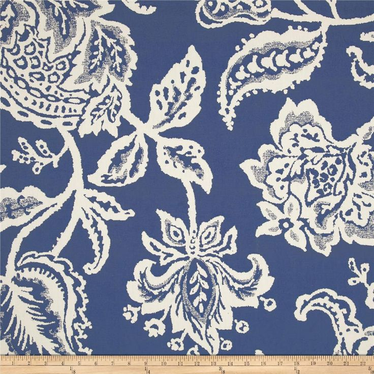 Robert Allen @ Home Jacobean Toss Jacquard Indigo from @fabricdotcom Refresh and modernize any home decor with this heavy weight jacquard fabric. This fabric has 10,000 double rubs and is perfect fabric for revitalizing an old piece of furniture and updating it with a new look. This fabric is an appropriate weight for draperies, accent pillows, upholstering furniture, headboards and ottomans. Colors include white and periwinkle blue.