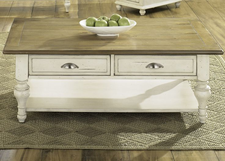 Liberty Furniture Ocean Isle Country Cottage Rectangular Cocktail Table  Furniture Land South:Dimensions: W