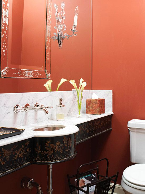 Red Bathroom Color Ideas 31 best bathroom paint choices images on pinterest | red bathrooms
