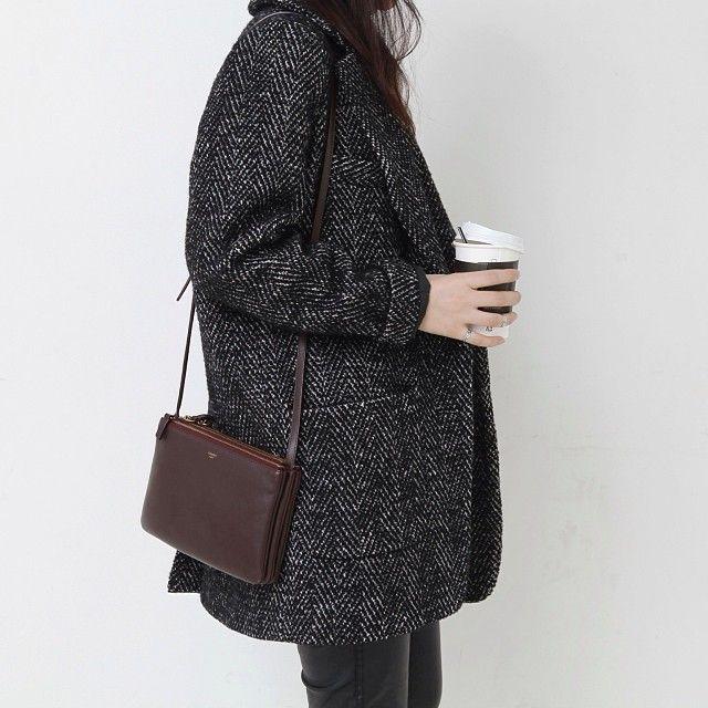 Manteau gris anthracite                                                                                                                                                                                 Plus