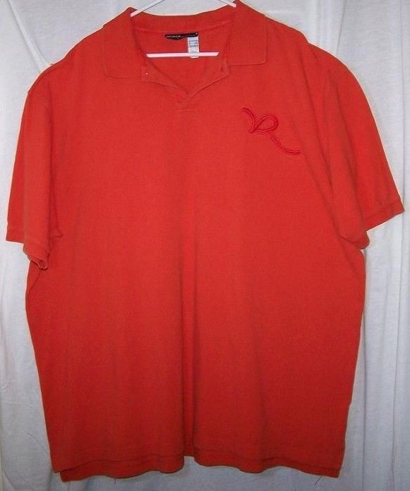 Rocawear Men 39 S Big Tall 3xl Cotton Orange Polo Short