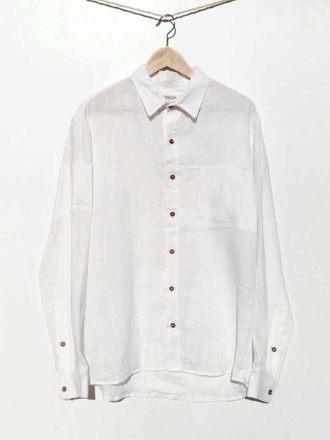 Camisa blanca de 100% cáñamo ecológico 110,00€
