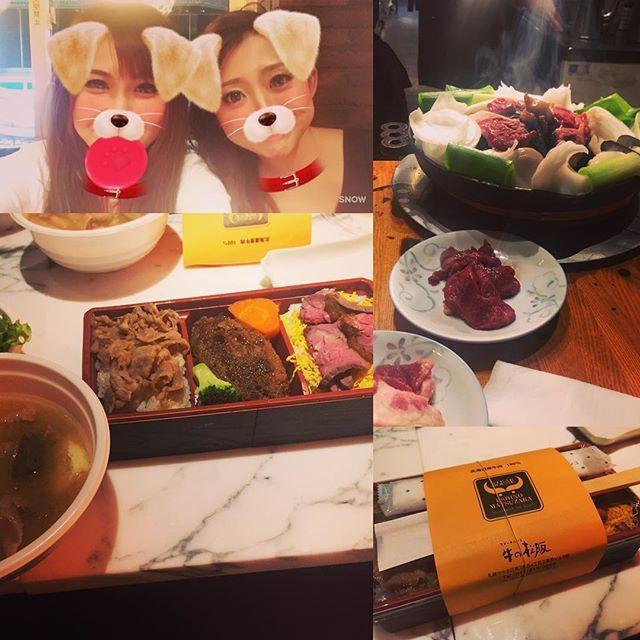 肉肉肉づくし♡  #ミーティング #ミーティング弁当 #牛の松阪  #締めに #ジンギスカン #だるま #肉 #ラム