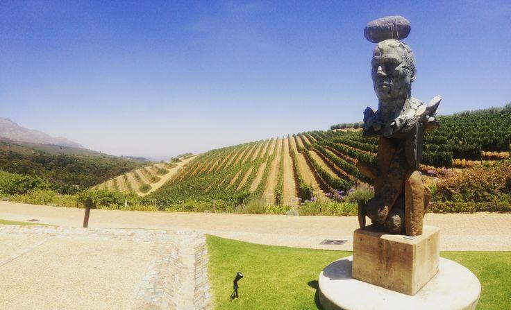 Sculpture at Tokara Wine Estate in stellenbosch