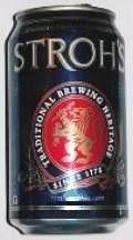 Cerveja Stroh's, estilo Standard American Lager, produzida por Miller Brewing Company, Estados Unidos. 4.6% ABV de álcool.