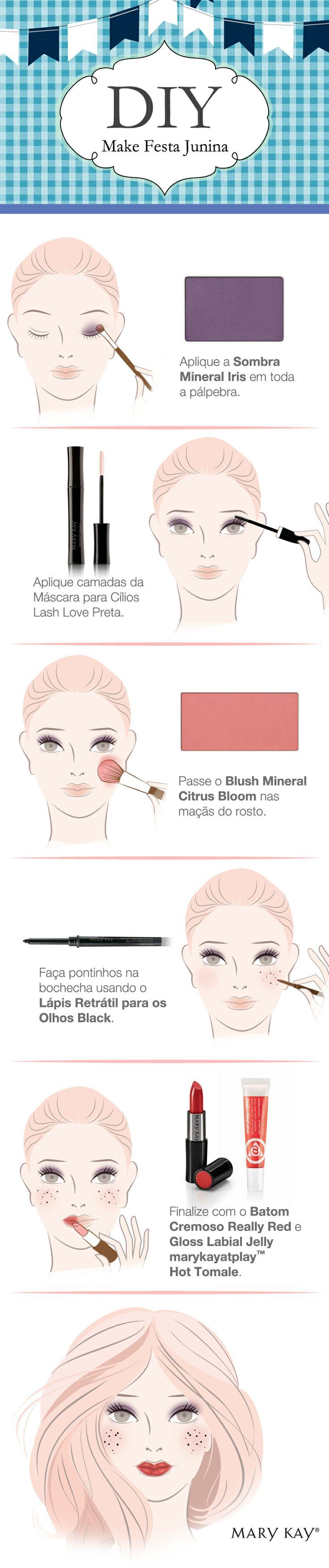 Olha a super dica de como se maquiar para as festas juninas!! Dicas e sugestões para Festas Juninas! Acesse: https://pitacoseachados.wordpress.com #pitacoseachados