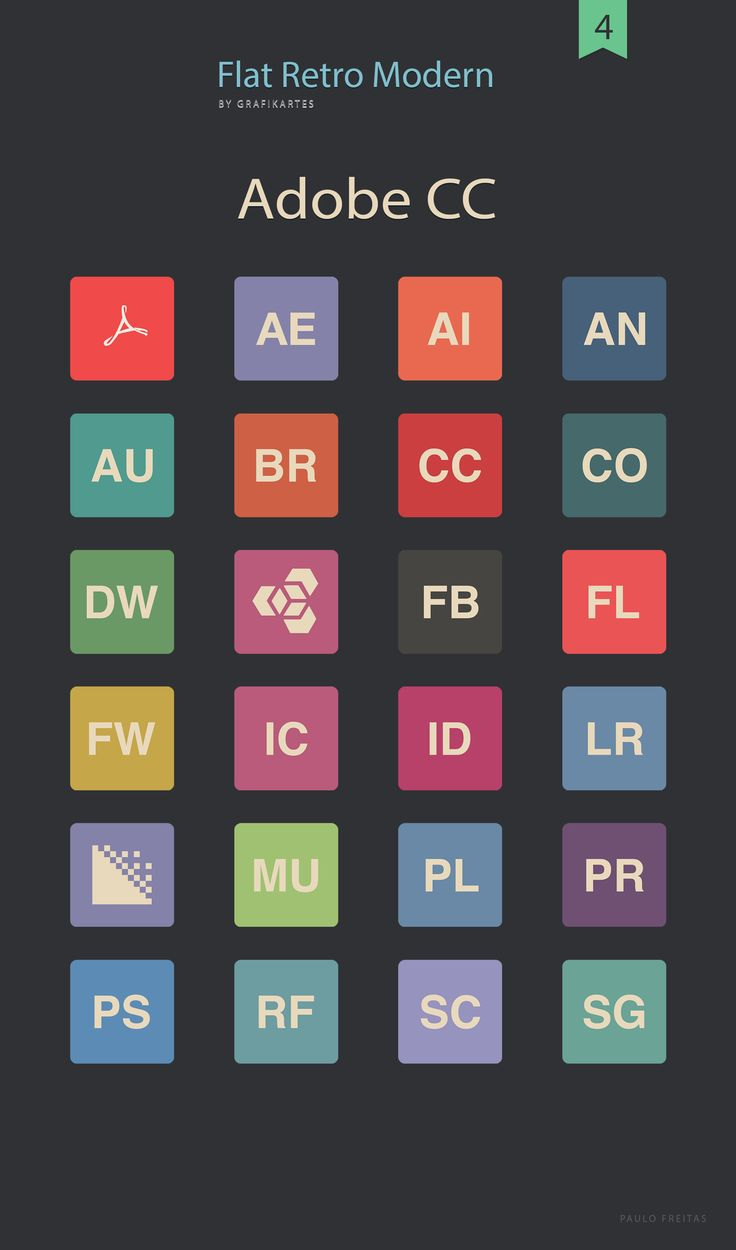 Flat Icons Adobe CC