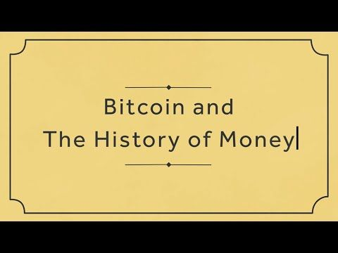 #Bitcoin and the history of #money