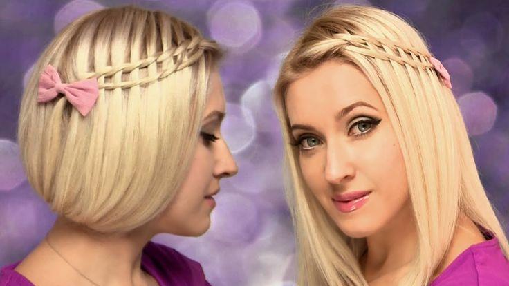 Faux carré + Tresse échelle (cascade) ★ Tuto coiffure cheveux mi longs, ... https://www.youtube.com/watch?v=EX9fvNLsTyk&feature=em-uploademail