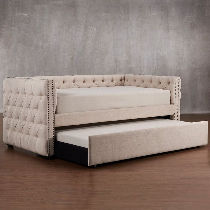 Homelegance Kenswick Tufted Upholstered Daybed with Trundle - E318B-ABL(3A)[BD]