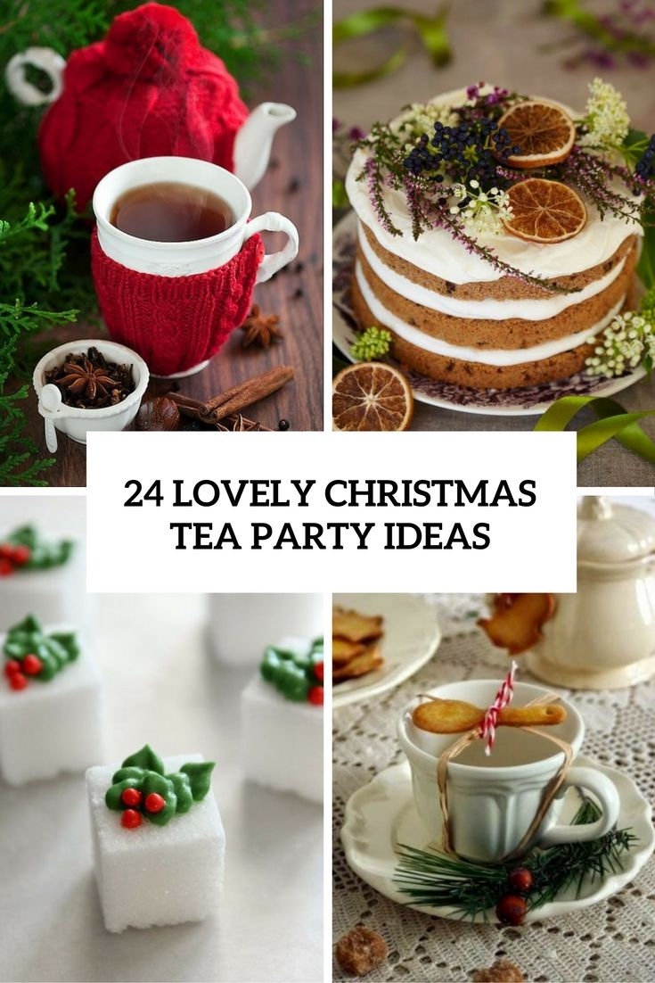 lovely christmas tea party ideas cover                                                                                                                                                                                 More