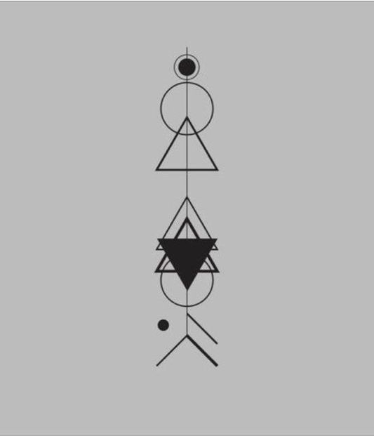 Arrow tattoo geometric tattoo by martina --> maybe do this with moon phases?
