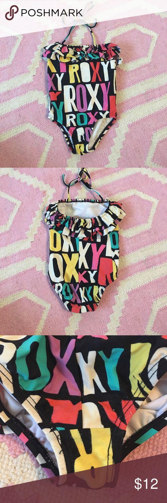 Roxy Teenie Wahine One piece Swimsuit - 2T Roxy Teenie Wahine One piece Swimsuit - 2T - in great used condition. Runs small (more like 12-18 months in my opinion) Roxy Swim One Piece