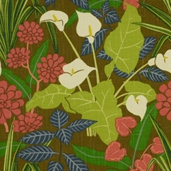 Rowlily Caribe by Robert Allen Linen Fabric
