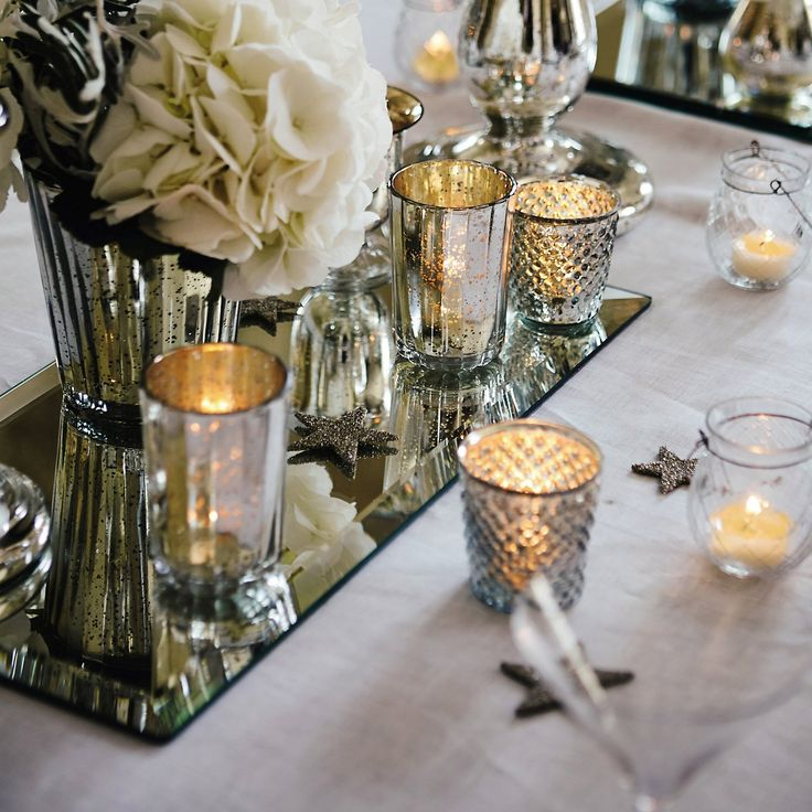 Art Deco Mirrored Charger | The White Company- LOVE #WhiteChristmasWishList