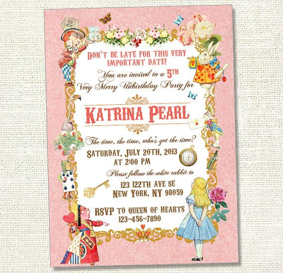 The Best Vintage Birthday Invitations Ideas On Pinterest Mad - Vintage girl birthday invitation