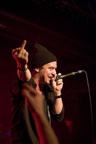 Fan appretiation or heckler?  You can never tell with Mike Patton!  haha