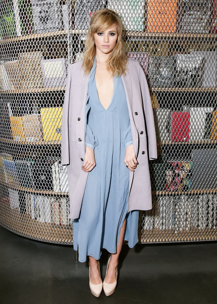Suki Waterhouse in Burberry at the New Museum's Ragnar Kjartansson opening.