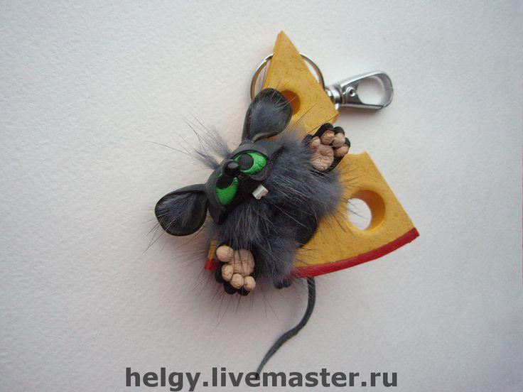 Купить Брелок на сумку Мышь на сыре - мышь, сыр, мышонок, мышь на сыре, брелок