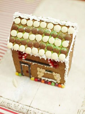 Add a fairytale touch to Christmas with a gingerbread house. Kids will love to help roll out the dough and, most of all, decorate it with snowy icing, sweets and glitter.