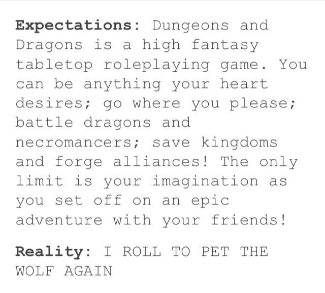 D&D Expectation vs Reality