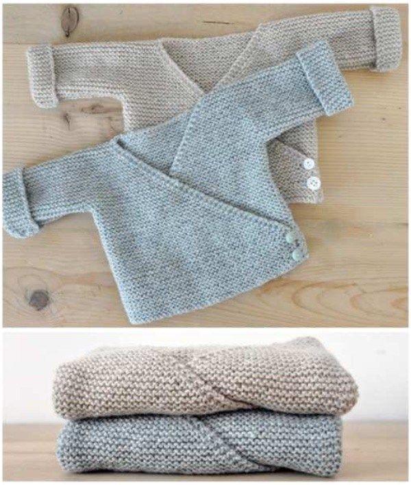 Baby-süße Strickjacken Free Knit Patterns   – idées