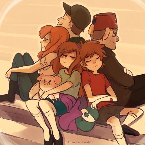 ikimaru: ..but everything stays Tags: #other_peoples_art gravity falls
