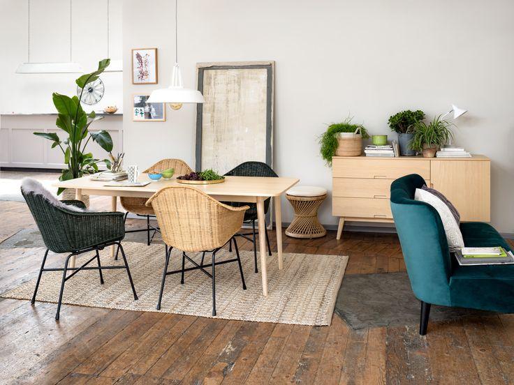 Micasa Wohnzimmer mit Esstisch RINALDI & Stühle ROTA