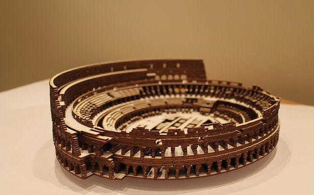 Laser Cut Model Of The Colosseum Laser Cut Pinterest