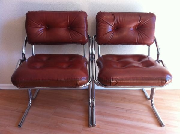 Los Angeles: Mid Century Modern Vinyl Chairs (2) $150   Http:/