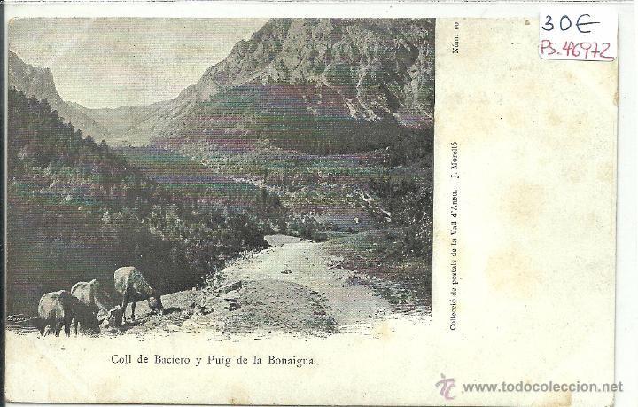 POSTAL DE COLL DE BACIERO Y PUIG DE LA BONAIGUA-COLECCION J.MORELLO
