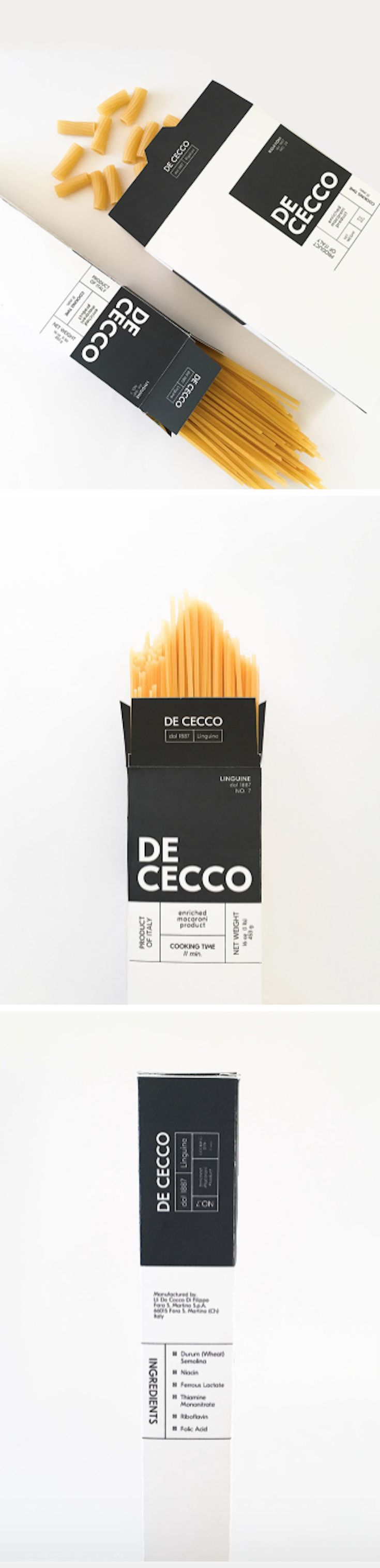 De Cecco Pasta Box packaging by Sarah Lee