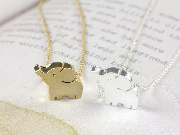Tiny baby elephant necklace