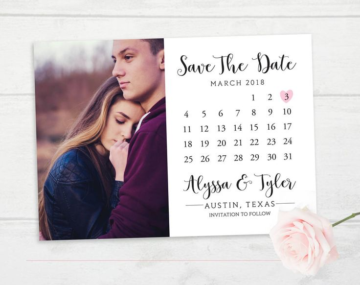 Excited to share the latest addition to my #etsy shop: Save the Date Calendar, Wedding Save The Date Card, Photo Calendar Save the Date, Wedding Invitation Calendar Printable, Photo Save The Date #weddings #invitation