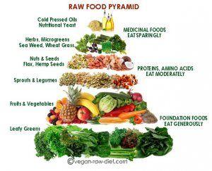 Raw food pyramid. Healthy food!