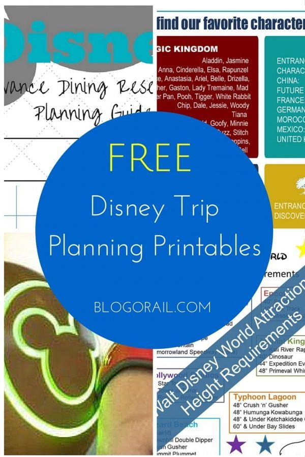 FREE Disney Trip Planning Printables - The Blogorail