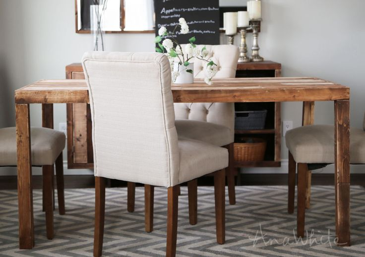 Ana white build a emmerson parsons table modern for Free dining table plans