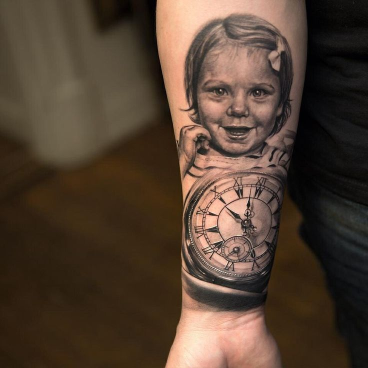 Portrait Tattoos On Forearm