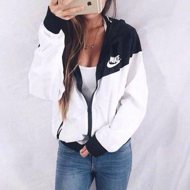 NIKE Hooded Zipper Cardigan Sweatshirt Jacket Coat Windbreaker Sportswear
