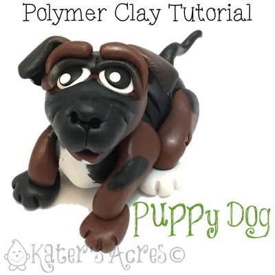 Polymer Clay Dog Tutorial by KatersAcres | Tutorial Club Members get this tutorial FREE in February 2015. Learn how to join here: http://bit.ly/JoinPCTClub