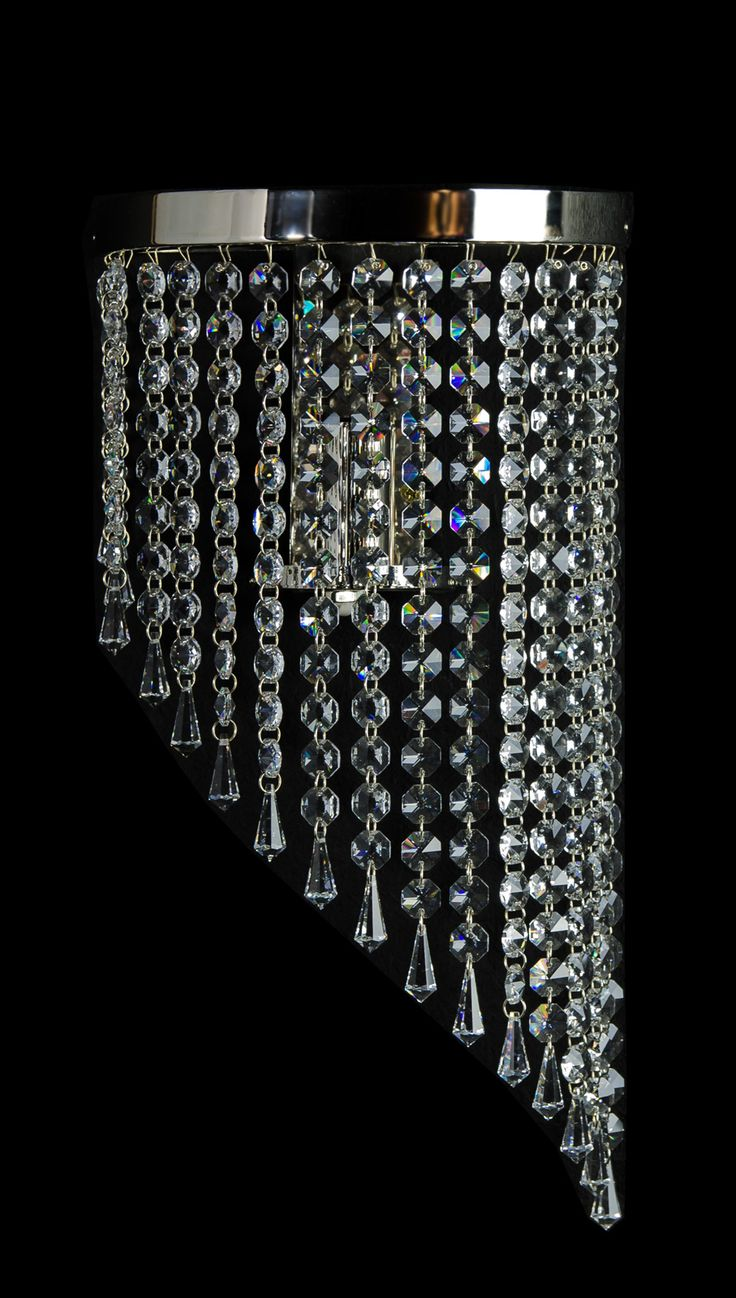 Beautiful crystal sconce!