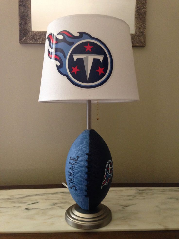 Tennessee Titans football lamp by thatlampguyGraz on Etsy https://www.etsy.com/listing/204949018/tennessee-titans-football-lamp