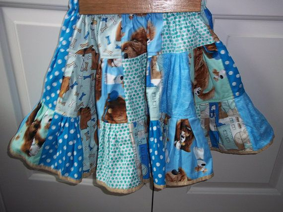 Secret Life of Pets Dogs Twirl Skirt Girls Clothing Outfit