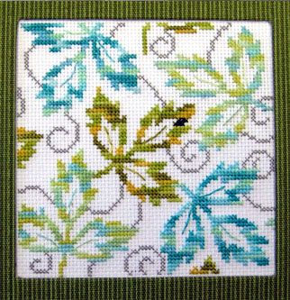 Falling Leaves Cross Stitch Pattern