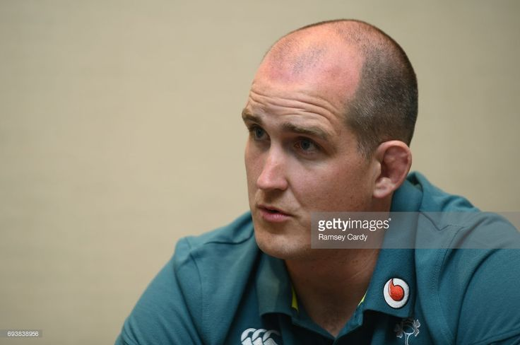 New Jersey , United States - 8 June 2017; Ireland's Devin Toner during a press conference at the Hyatt Regency Hotel in Jersey City, New Jersey, USA.