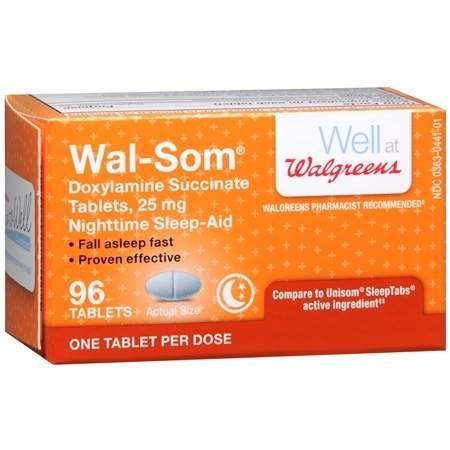 Walgreens Wal-Som Nighttime Sleep Aid Tablets - 96 ea